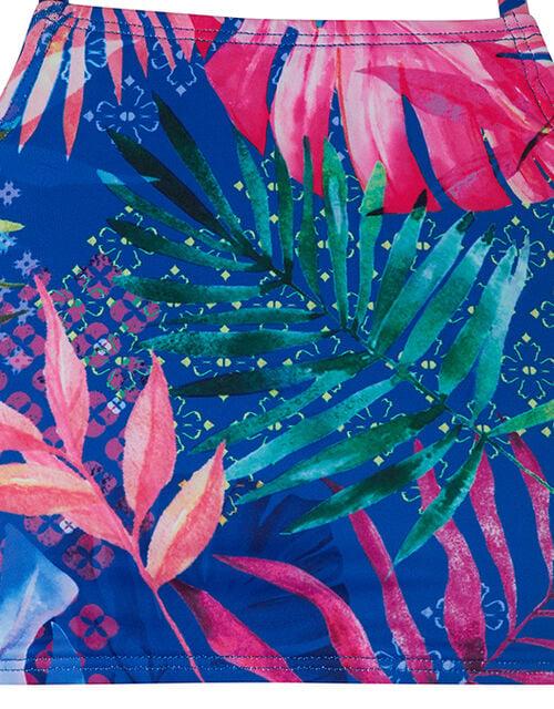 Delida Palm Print Bikini Set with Recycled Fabric, Blue (BLUE), large