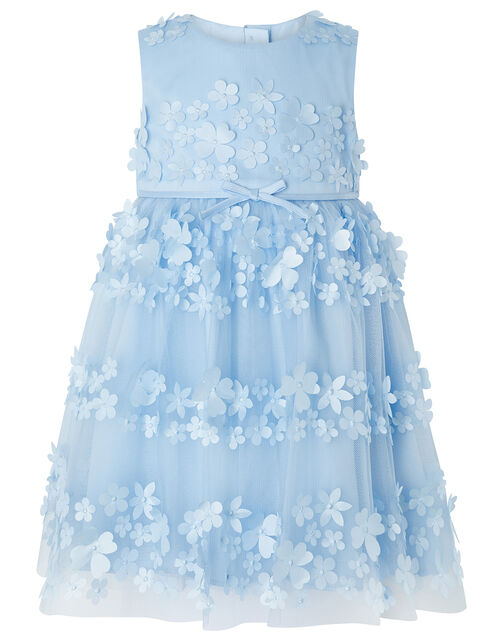 Baby Pretty Petal Occasion Dress, Blue (BLUE), large