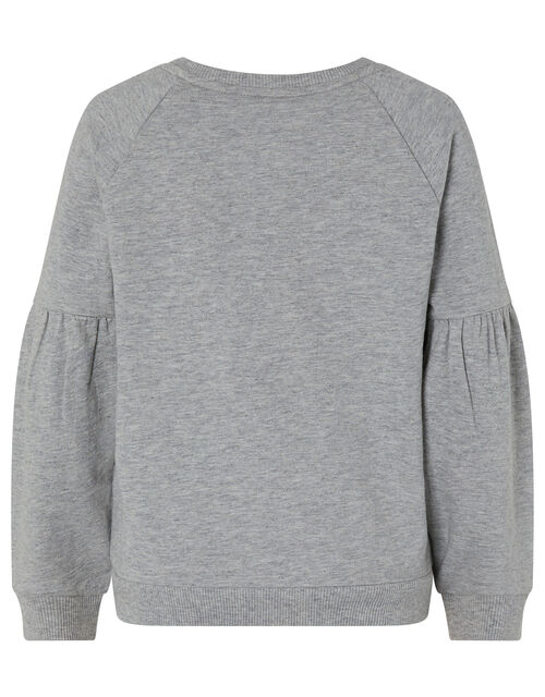 Star Sequin Sweatshirt and Legging Set, Grey (GREY), large