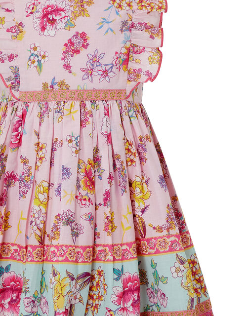 Baby Paisley Floral Dress in Organic Cotton, Pink (PINK), large