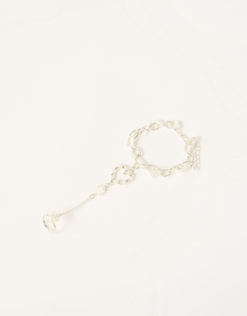 Pearly Rose Linked Ring and Bracelet , , large