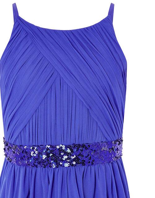 Chiffon Hanky Hem Prom Dress, Blue (BLUE), large