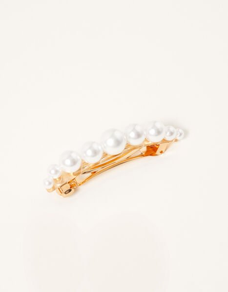 Pearly Barrette Clip, , large