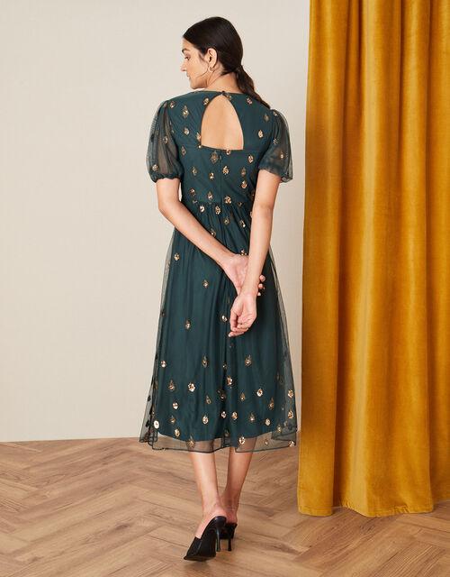 Siobhan Embellished Midi Dress, Green (GREEN), large