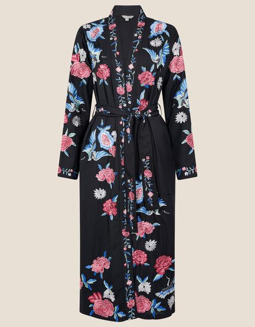Elizabeth Embroidered Kimono , Black (BLACK), large
