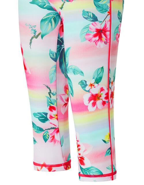 Serena Tropical Floral Active Leggings, Multi (MULTI), large