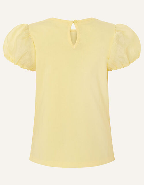 Daisy Organza Top , Yellow (YELLOW), large