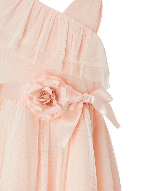 Bella One Shoulder Occasion Dress, Orange (PEACH), large
