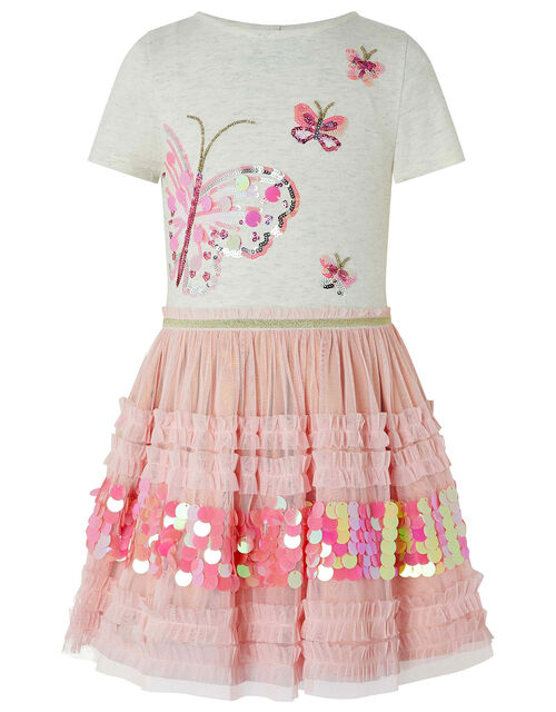 Sequin Butterfly Disco Dress, Pink (PINK), large