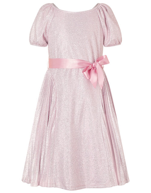 Mercury Shimmer Pleated Dress, Pink (PINK), large