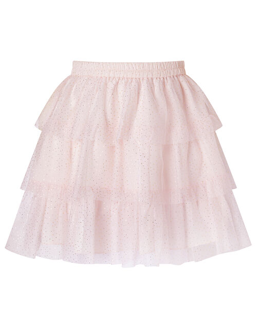 Metallic Top and Tiered Skirt Set, Pink (PINK), large
