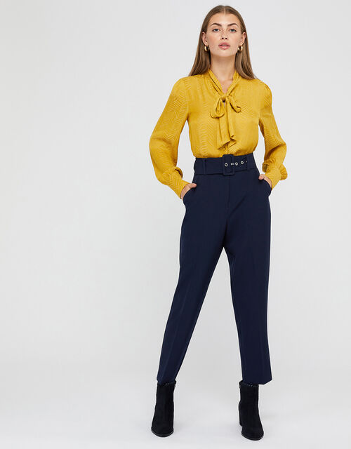 Erica Tapered Leg Trousers, Blue (NAVY), large