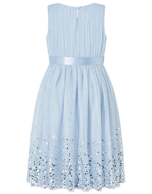 Lana Tulle Occasion Dress with Sequinned Hem, Blue (BLUE), large