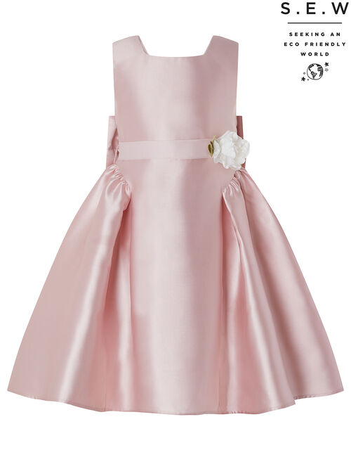 Pearl Duchess Occasion Dress in Recycled Polyester, Pink (DUSKY PINK), large
