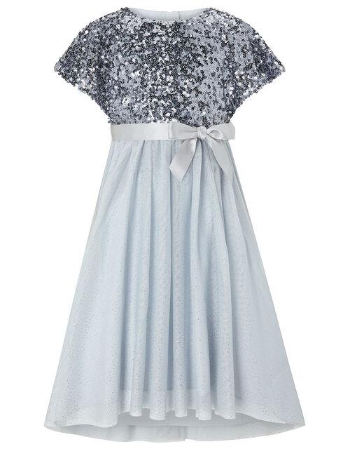 Truth Sequin Sparkle Maxi Dress, Blue (BLUE), large