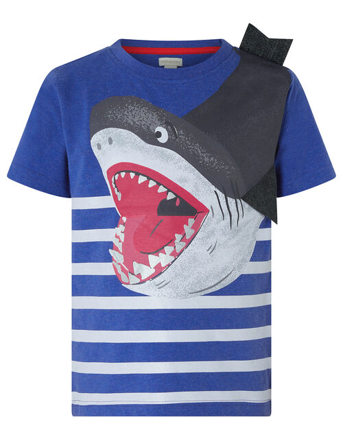 BRUCE SHARK TEE, Blue (BLUE), large