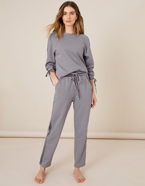 LOUNGE Laurie Velour Trim Joggers Grey, Grey (GREY), large