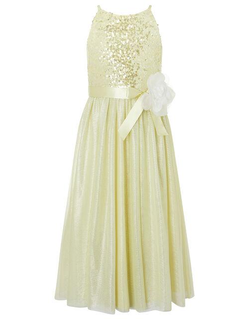 Truth Sequin Sparkle Maxi Dress, Yellow (LEMON), large