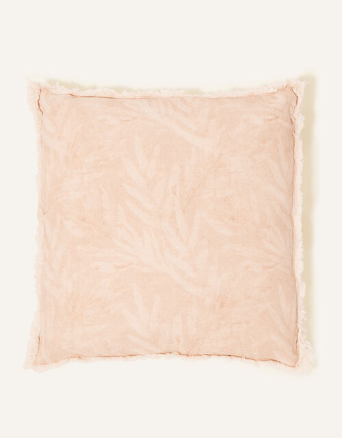 Square Leaf Print Cushion, , large