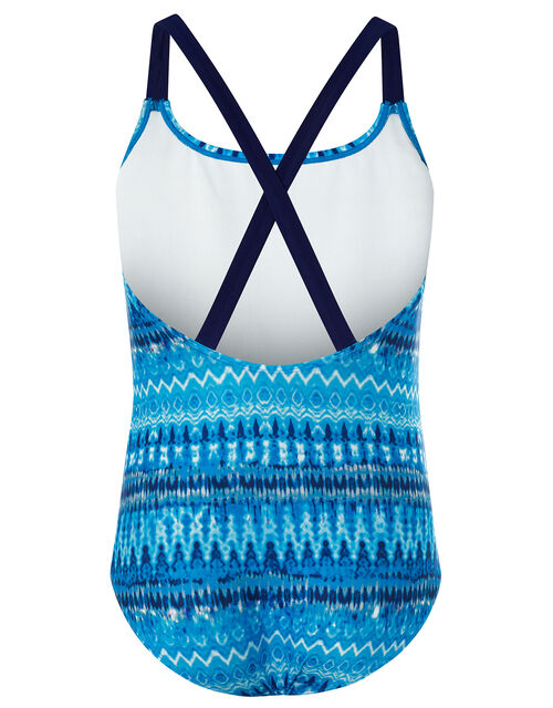 Cypress Tie Dye Swimsuit, Blue (BLUE), large
