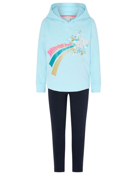 Star Hoody and Leggings Set Blue, Blue (BLUE), large