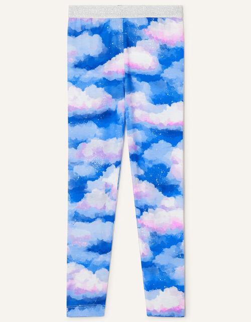 Tie-Dye Cloud Print Leggings, Multi (MULTI), large