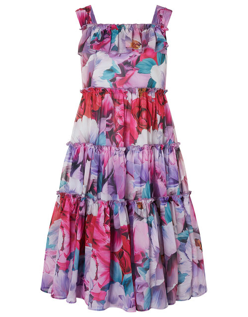 Tammy Floral Tiered Maxi Dress, Multi (MULTI), large