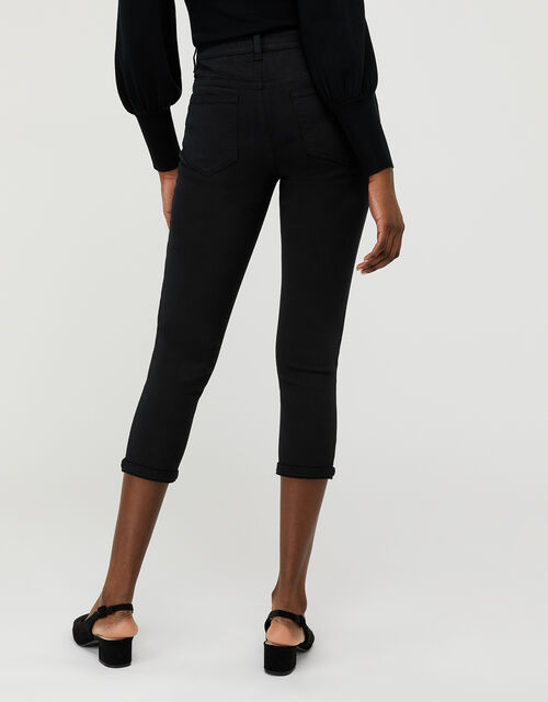 Idabella Capri Jeans with Organic Cotton, Black (BLACK), large