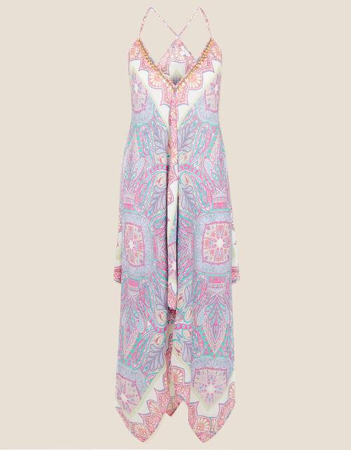 Perla Paisley Hanky Hem Dress, Pink (PINK), large