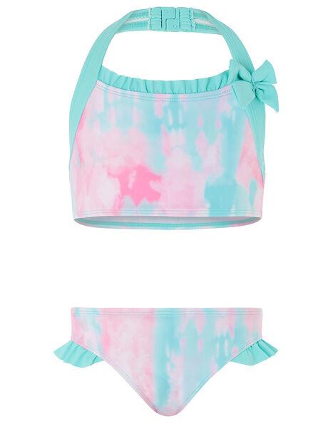 Tie-Dye Halter Bikini Set Pink, Pink (PINK), large