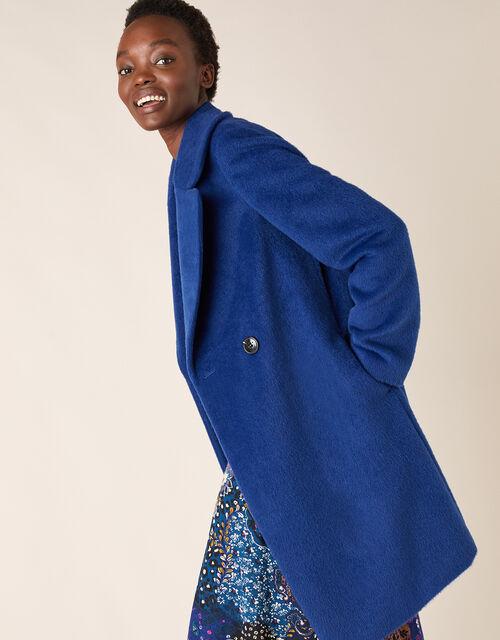 Eliza Textured Coat, Blue (BLUE), large