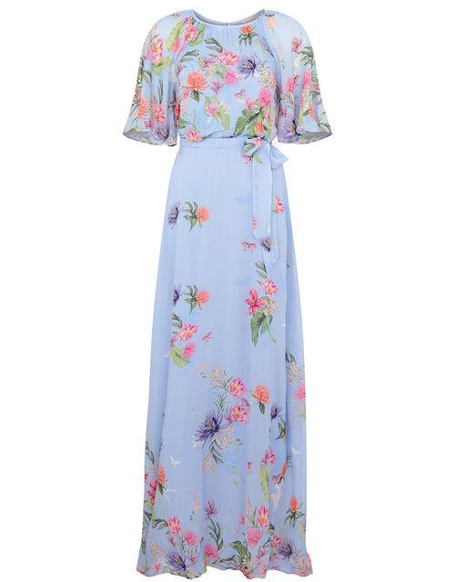 Esmee Floral Maxi Dress, Blue (BLUE), large