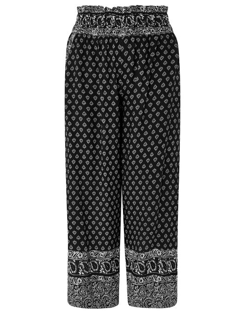 Helena Heritage Printed Culottes in LENZING™ ECOVERO™, Black (BLACK), large