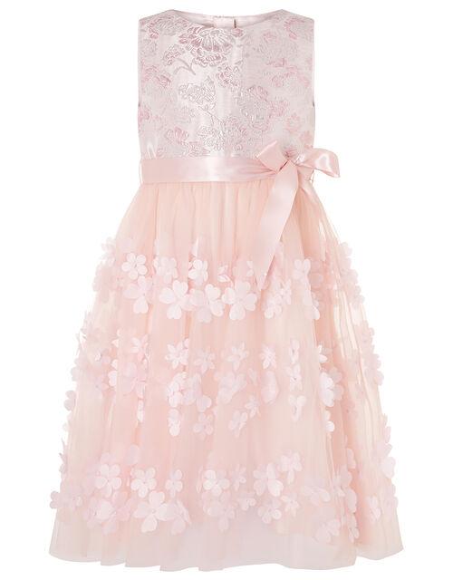 Ivy Jacquard Petal Dress, Pink (PINK), large