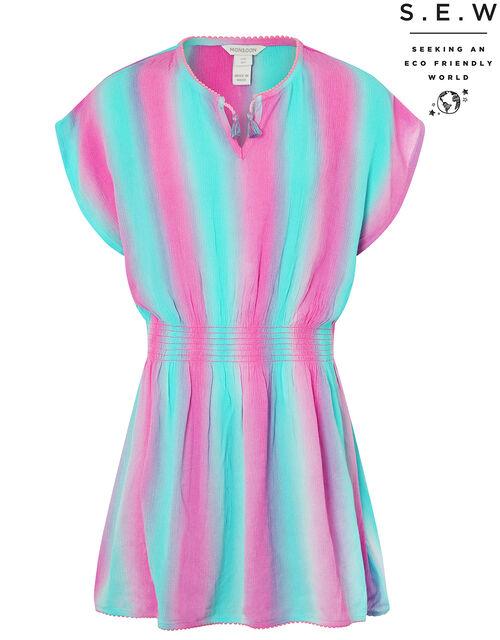 Tie-Dye Kaftan Dress in LENZING™ ECOVERO™, Multi (MULTI), large