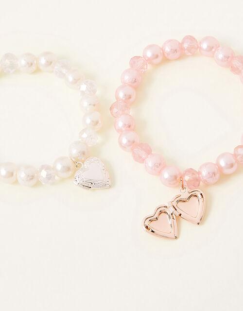 Pearly Heart Trinket Bracelet Set, , large