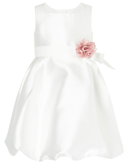 Baby Pearl Puffball Dress, Ivory (IVORY), large