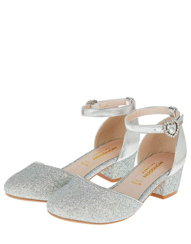 Glitter Two-Part Heels Silver, Silver (SILVER), large