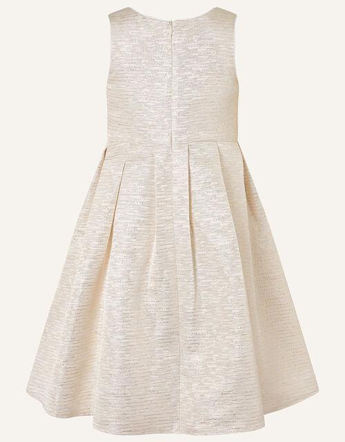 Adelaide Jacquard Dress and Jacket Set , Gold (GOLD), large