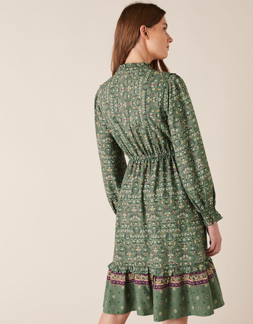 Ditsy Floral Short Dress in LENZING™ ECOVERO™, Green (GREEN), large