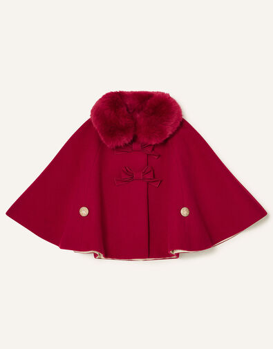 Baby Bow Cape Red, Red (RED), large