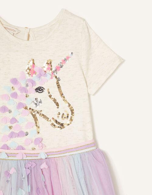 Unicorn Flower Disco Dress, Ivory (IVORY), large