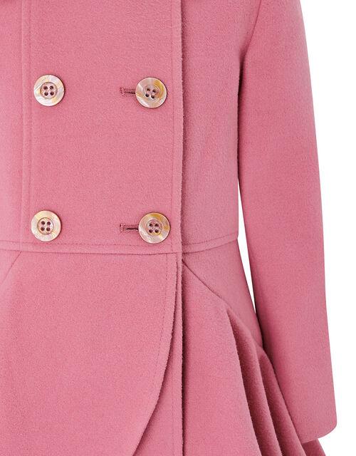 Twirl Ruffle Coat, Pink (PINK), large