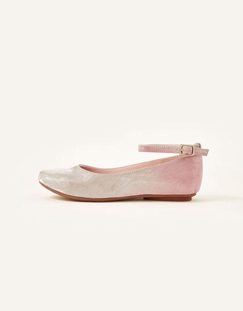 Shimmer Ombre Ballerina Shoes, Pink (PINK), large