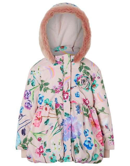 Baby Floral Print Padded Coat, Pink (PINK), large
