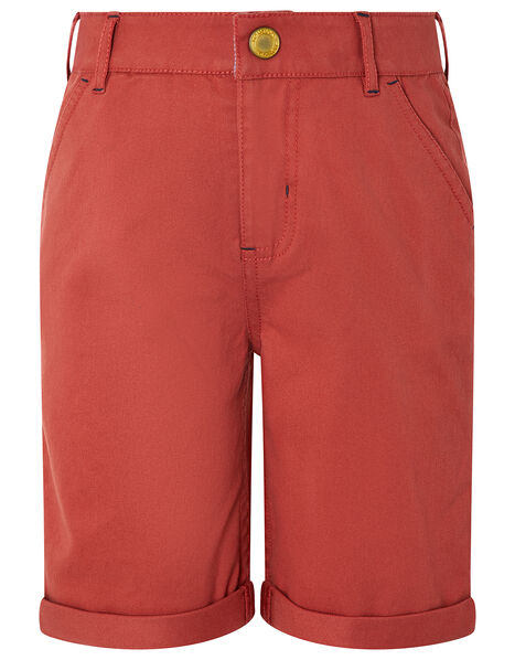Rufus Shorts with Dinosaur Trim Red, Red (RED), large