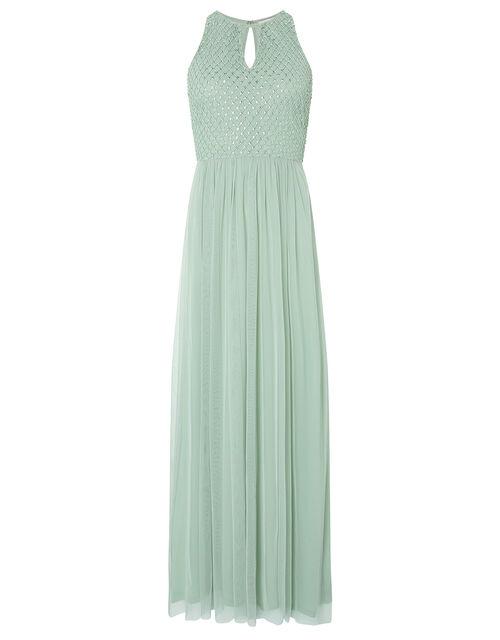 Sophie Embellished Tulle Maxi Dress, Green (GREEN), large