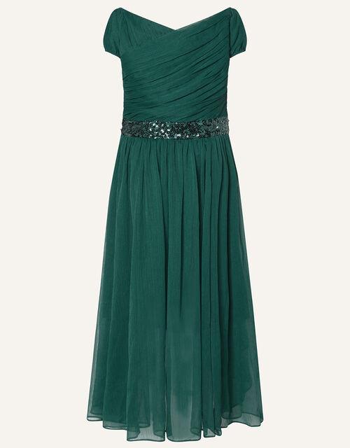Abigail Sequin Chiffon Prom Dress, Green (GREEN), large