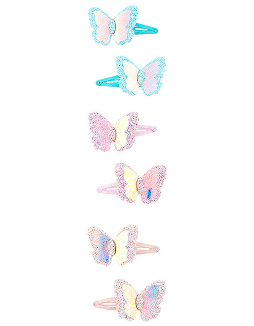 Sparkle Butterfly Hair Clip Set, , large