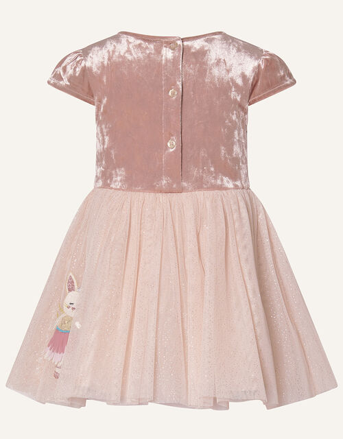 Baby Velvet Mice Applique Dress, Pink (PINK), large